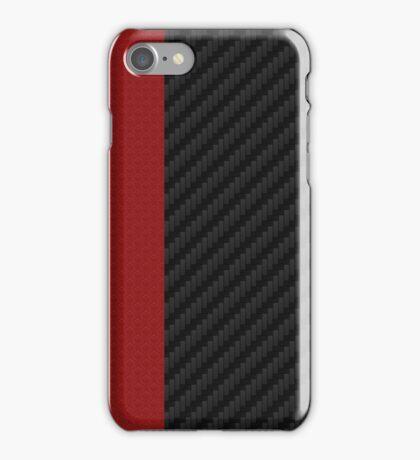 carbon fiber Red mixmatch iPhone Case/Skin