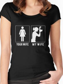 PHOTOGRAPHER - MY WIFE Women's Fitted Scoop T-Shirt