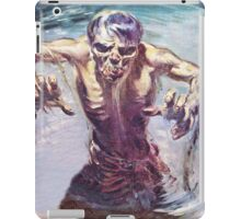 Zombie emerging from a lake iPad Case/Skin