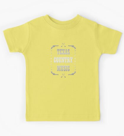 Silver Texas Country Music Kids Tee