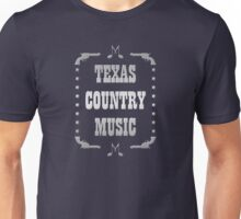 Silver Texas Country Music Unisex T-Shirt