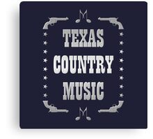 Silver Texas Country Music Canvas Print
