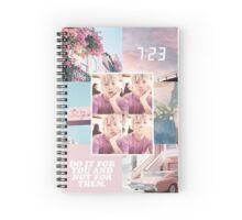 Rap Monster - Pink Edit  Spiral Notebook