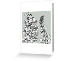 Foxgloves on Grey Background Greeting Card