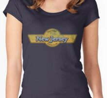 New Jersey State Logo Women's Fitted Scoop T-Shirt
