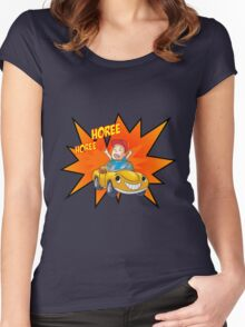 Happy Person Women's Fitted Scoop T-Shirt