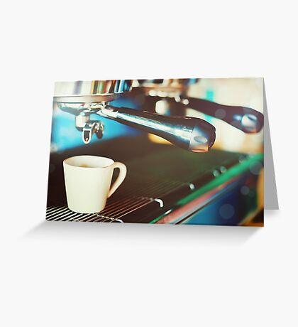 Coffee machine making espresso Greeting Card