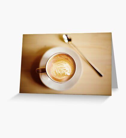 Latte coffee art Greeting Card