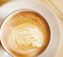 Latte coffee art Sticker