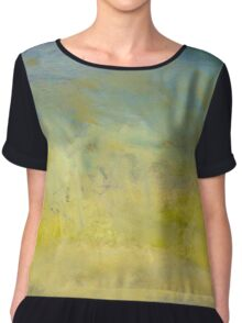 Oil painted sky gradient Chiffon Top