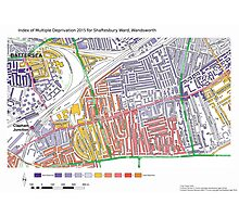 Multiple Deprivation Shaftesbury ward, Wandsworth Photographic Print