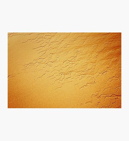 Travel background with wave sand texture Photographic Print