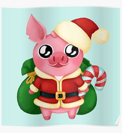 Molly the Micro Pig - Christmas Edition Poster