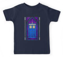 Stained Glass Series - TARDIS Kids Tee