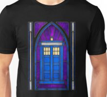 Stained Glass Series - TARDIS Unisex T-Shirt