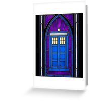 Stained Glass Series - TARDIS Greeting Card
