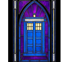 Stained Glass Series - TARDIS Photographic Print