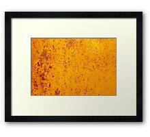 Rusty orange grunge texture Framed Print
