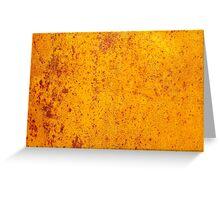 Rusty orange grunge texture Greeting Card