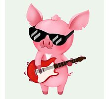 Molly the Micro Pig - Rock Star Edition Photographic Print
