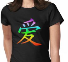 rainbow love Womens Fitted T-Shirt