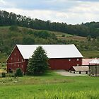 Red Barn Rural PA by Geno Rugh