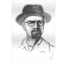Walter White Electric Portrait Poster