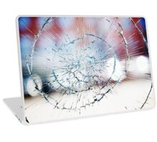 Broken window glass Laptop Skin