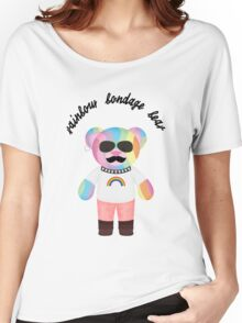 Rainbow Bondage Bear - Punk Women's Relaxed Fit T-Shirt