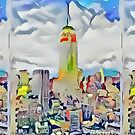 Empire State Building New York City Abstract by RD Riccboni by RDRiccoboni