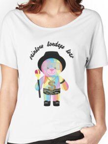 Rainbow Bondage Bear - King Women's Relaxed Fit T-Shirt