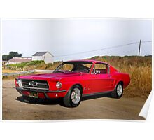 1967 Ford Mustang Fastback Poster