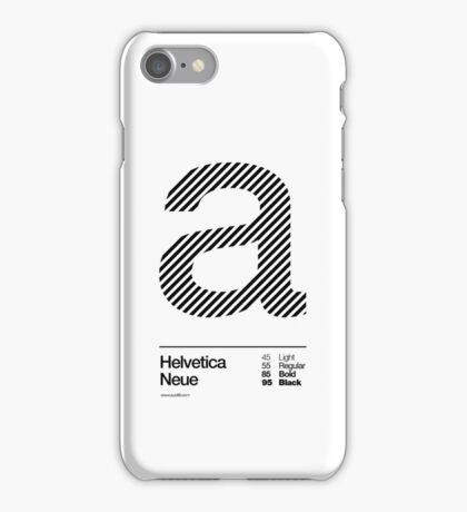 a .... Helvetica Neue (b) iPhone Case/Skin