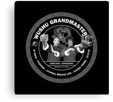 Bruce Lee & Ip Man Collaboration Black Variant Two Canvas Print
