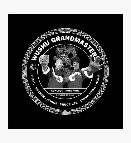 Bruce Lee & Ip Man Collaboration Black Variant Two Photographic Print