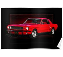 1966 Ford Mustang Coupe Poster