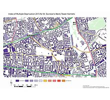 Multiple Deprivation St Dunstan's ward, Tower Hamlets Photographic Print