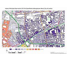 Multiple Deprivation Spitalfields & Banglatown ward, City of London Photographic Print