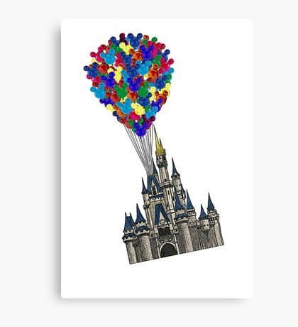 Castle Floating UP & Away Canvas Print