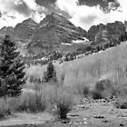 Maroon Bells Monochrome by Eric Glaser