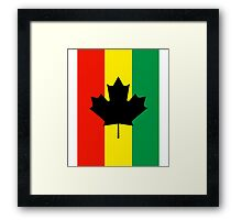 Rasta Reggae Maple Leaf Flag Framed Print