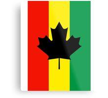 Rasta Reggae Maple Leaf Flag Metal Print