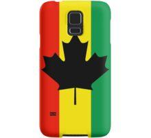Rasta Reggae Maple Leaf Flag Samsung Galaxy Case/Skin