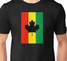 Rasta Reggae Maple Leaf Flag Unisex T-Shirt
