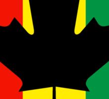Rasta Reggae Maple Leaf Flag Sticker