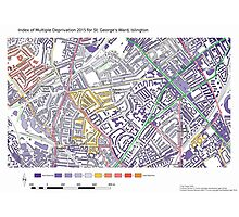 Multiple Deprivation St George's ward, Islington Photographic Print