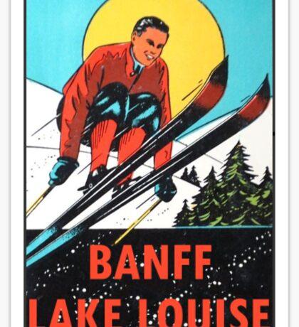 Banff Lake Louise Ski Vintage Travel Decal Sticker