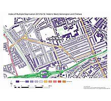 Multiple Deprivation St Helen's ward, Kensington & Chelsea Photographic Print