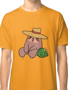 Cowboy Hat Sloth and Cactus Classic T-Shirt