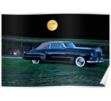 1948 Cadillac Series 62 Convertible 'Smooch'n in the Moonlight' Poster